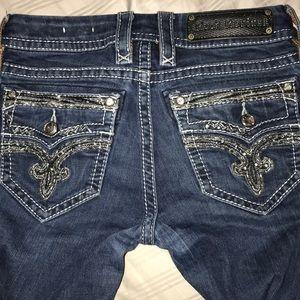 Women's Rock Revival DEEKA straight jeans 25 long